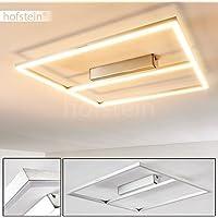 LED Deckenlampe aus Metall in Nickel matt – Eckige Deckenlampe für Wohnzimmer – Flur – Schlafzimmer – LED Deckenspot – Deckenleuchte dimmfähig – 3000 Kelvin – 1880 Lumen