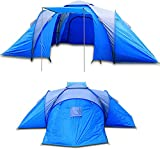 Camping Family Tent 6 Person Man Berth Waterproof XXL Blue Hiking Travel Dome Tent