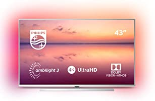 Philips Ambilight 43PUS6814/12 Fernseher 108 cm (43 Zoll) Smart TV (4K UHD, HDR 10+, Pixel Precise Ultra HD, Dolby...