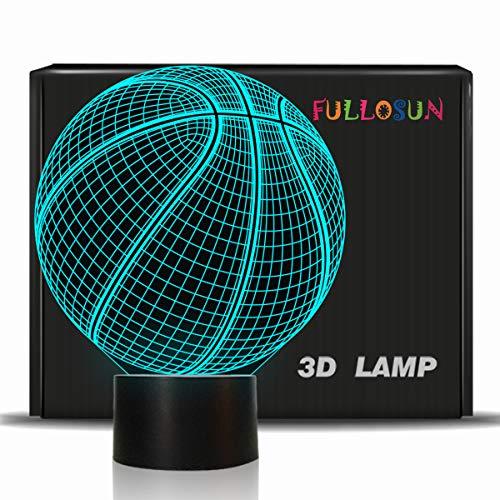 ßball 3D optische Täuschung Lampe mit 7 Farben ändern Fußball Geburtstag Weihnachten Idee für Sport Fan Jungen Mädchen ()
