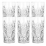 Libbey Hobstar - Longdrinkglas, Cocktailglas, Wasserglas, Saftglas - 470 ml - Glas - 6er Set - Bekannt aus Den Coolsten Hotels und Bars
