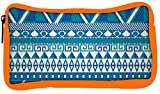 Snoogg Eco Friendly Canvas Aztec Pattern Triangular Student Pen Pencil Case Coin Purse Pouch Cosmetic Makeup Bag