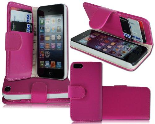 Pink Flip Seite Wallet Handy Schutzhülle Apple i Phone 5C