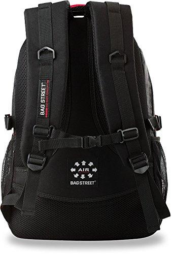 Rucksack Bag Street Sporttasche Freizeittasche Schultasche Arbeitstasche Orange-Schwarz