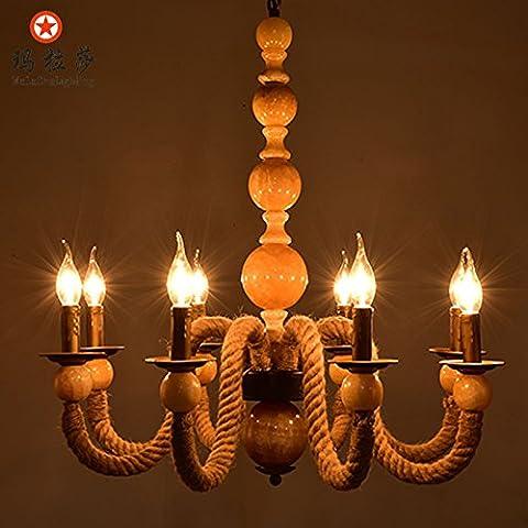 Soy un elegante candelabro Retro-cuerda candelabros de hierro forjado, 8