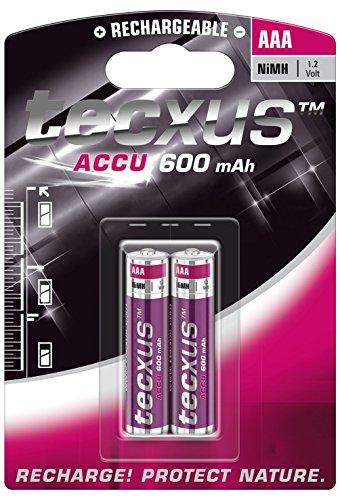 Micro AAA (1.2V 600mAh) Batería para teléfonos DECT y solar paquete de 2