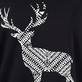 Geili Weihnachten Kostüm Bluse Damen Mode Renntier Print Schulterfrei Langarmshirt Sweatshirt Pullover Tops Loose Casual Große Größen T Shirt Oberteile Größe S-4XL Vergleich