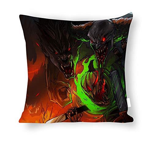 Baumwolle und Leinen Kissenbezug Pillow Cover Halloween Art Jason Voorhees Werewolf 18x18 - Zoll Pillowcase 45x45 cm ()
