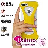 'Palmo' coque de iPhone8plus / iPhone7plus (Jaune) One finger gripping iPhone case to...