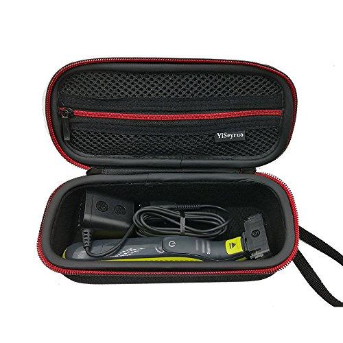 Philips Norelco OneBlade Tasche, YiSeyruo EVA Etui Tragetasche für Philips Norelco OneBlade QP2530 Hybrid Elektrischer Trimmer und Rasierer