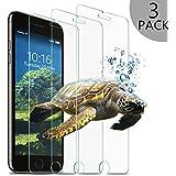 Wsky iPhone 7 Plus Panzerglas Schutzfolie, 3 Stück Displayschutzfolie für 5,5 Zoll, 9H Härte Ultradünne 3D Touch Kompatibel (3 Stück)