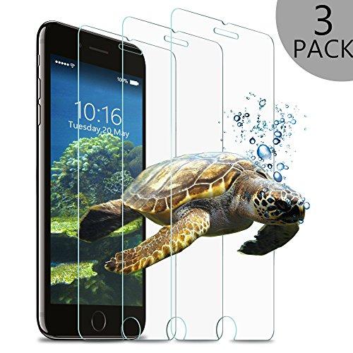 Wsky Panzerglas Schutzfolie für iPhone 7 Plus, 3 Stück Displayschutzfolie für 5,5 Zoll, 9H Härte Ultradünne 3D Touch Kompatibel (3 Stück)