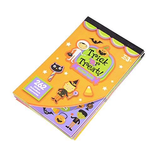 BESTONZON 2 stücke Halloween Thema Aufkleber Bücher für Kinder Halloween Geschenk Party Favors