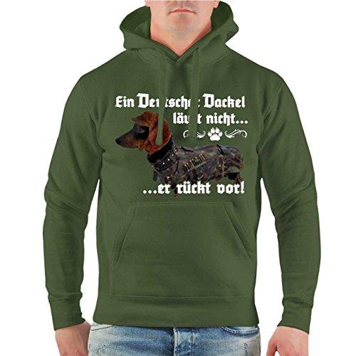 Männer und Herren Kapuzenpullover Ein deutscher Dackel läuft nicht er rückt vor Größe S - 8XL
