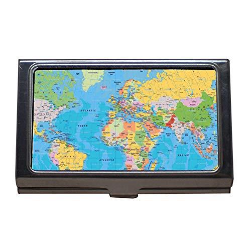 Visitenkartenetui, Karte Italien, Desktop-Hintergrund der Welt, Hundehalsbänder für große Hunde, Visitenkartenetui aus Edelstahl