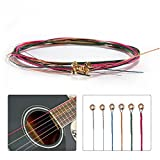 #4: SBE 1 set Colorful Acoustic Guitar Steel Strings, E-A Guitar Strings For Electric Guitar,Folk Acoustic Guitars and Classic Guitars Part Accessories.