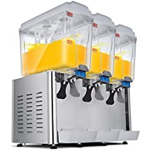 Moracle Dispensador de Bebidas Frías de Zumo 54L Dispensador de Jugo Caliente y Fría para Bebidas