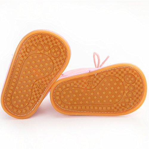 Oderola Schuhe für 3-12 Monate Baby,Gummi Soft-Sohlen Winterstiefel Stiefel Pink