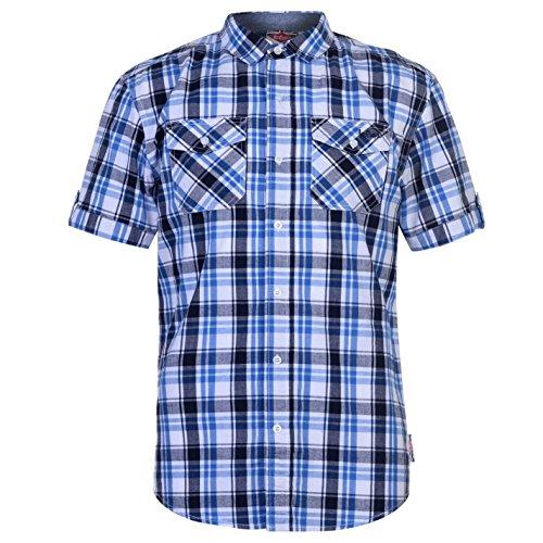 Trisens Herren Hemd Shirt Kurzarm Baumwolle Kontrast Knopfleiste ... 69d28d9492