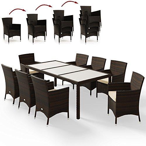 Deuba Sitzgruppe 8+1 aus Rattan (braun)