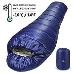 Bessport Mummy Sleeping Bag -10 Degree Celsius - 4 Season Backpacking Sleeping Bag for Adults & Kids – Lightweight Warm… 8
