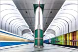 Posterlounge Alu Dibond 150 x 100 cm: Ubahn München - Dülferstraße 2 von MUXPIX