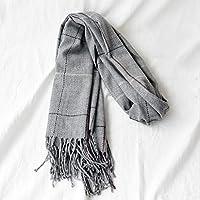 Xiaoyu scarf Bufanda otoño e Invierno Moda Hombres y Mujeres Bufanda algodón Bufanda Caliente (Color : D)