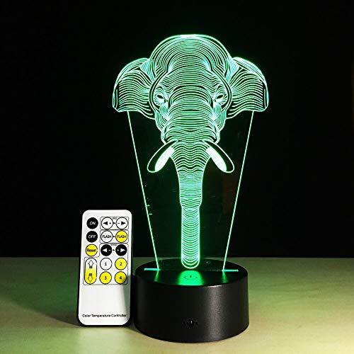 Tocco telecomandato del regalo di festa di compleanno del giocattolo del bambino della lanterna della luce ambientale di sonno dell'elefante fortunato dell'illusione