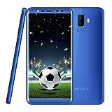 Smartphone ohne Vertrag, Leagoo M9 3G Handy Mobiltelefon Dual SIM Telefon, Vierfach-Kameras, 5.5 Zoll Bildschirm im Verhältnis 18:9, MT6580A Quad Core 1.3GHz, 2GRAM+16GB ROM, Android 7.0 Mobiltelefon für Fußball (Blau)