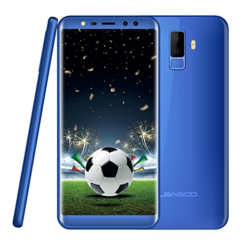 "Smartphone ohne Vertrag 2018, Leagoo M9 Dual SIM Handy Mobiltelefon 5.5"" Bildschirm, Dual Hauptkamera 8MP+2MP, 0.1s Fingerabdruck Sensor 2GB RAM+16GB ROM Quad Core 1.3GHz Günstiges Telefon (Blau)"