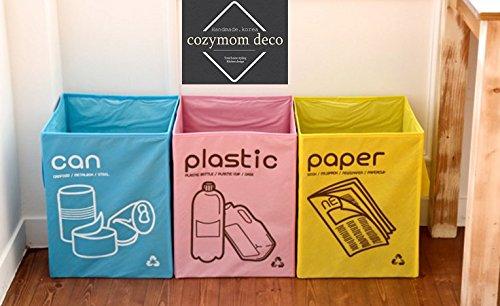 le Tasche separates Fach Papierkorb nicht Geflochtene Körbe Offene Container 3Set (Recycle-papierkorb)