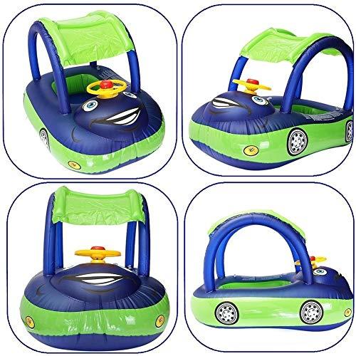 Xiangpian183 Aufblasbarer Pool-Schwimmer mit Auto-Form | Schwimmen sicherer Sitz aufblasbare Float Spielzeug Pool Float Seat schwimmendes Bett für Kinder Baby, 83x51x56cm