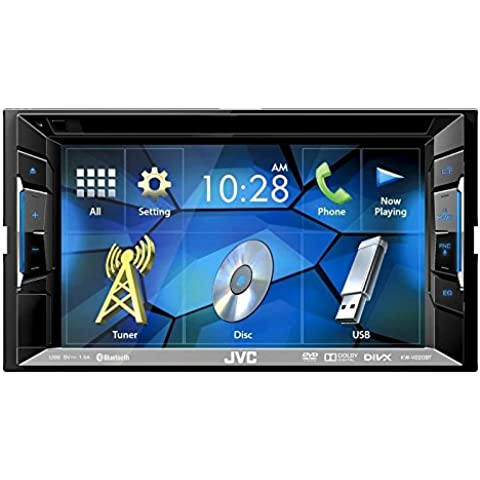 Auto Radio Multimedia 2 DIN DVD USB CD Receiver JVC mit Bluetooth für BMW 1 E87 4/5 Türer 03/2007-06/2011 incl Einbauset