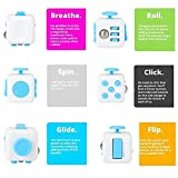 JuYi Fidget Toy Cube Relieves Stress And Anxiety for Children and Adults (Blue)