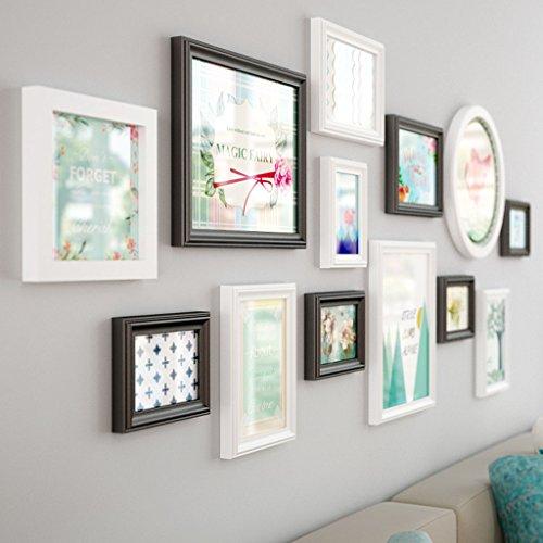 Lqqgxl parete in legno massello europeo parete attrezzata moderna minimalista per la casa cornice per foto cornice per foto cornice per foto (colore : a)