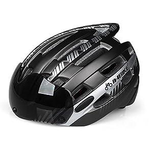 ShopSquare64 INBIKE Casco de Gafas Estilo Gris de magnetismo Casco de Paseo en Bicicleta de Montaã±a Ultraligero y Transpirable
