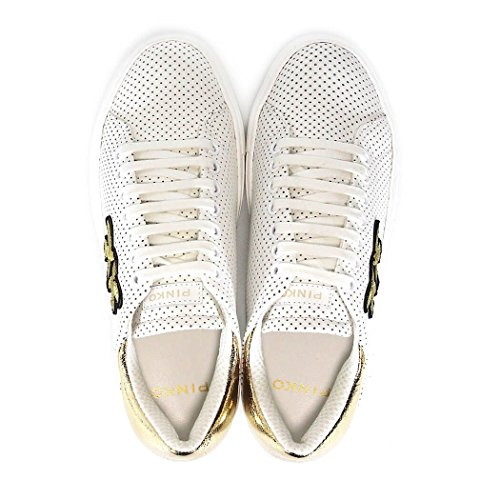 Pinko 1h209p-y395, Sneakers basses femme Bianco/Oro