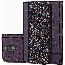 für Smartphone Samsung Galaxy J5 2017/SM-J530 Hülle, Leder Tasche für Samsung Galaxy J5 2017/SM-J530 Flip Cover Handyhülle Bookstyle mit Magnet Kartenfächer Standfunktion