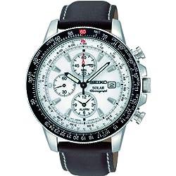 Seiko Reloj Cronógrafo de Cuarzo para Hombre con Correa de Piel – SSC013P1