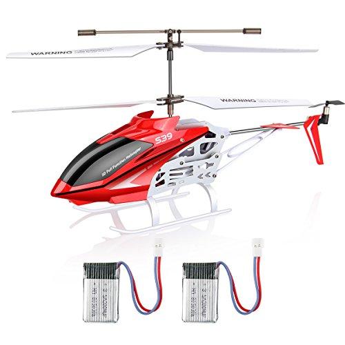 3 Gyro Kanal Hubschrauber (OriginalSyma S39 RC Hubschrauber HeliKopter Drohne Flugzeug Kindspielzeug Rot)