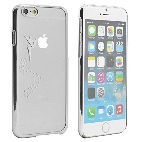 iProtect Schutzhülle Apple iPhone 6, 6s (4,7'') Hülle Totenkopf Skull Star Design in schwarz Silber Fee