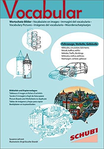 Vocabular Wortschatz-Bilder: Vocabular: Kopiervorlagen Fahrzeuge, Verkehr, Gebäude
