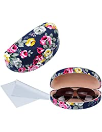 6870fe4fd9c6 Oversized Hard Shell Sunglasses Case For Women Durable Protective Holder  for Extra Large Reading Glasses With