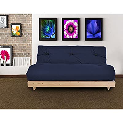 Changing Sofas Complete Triple Seater Futon Sofabed, Navy Blue