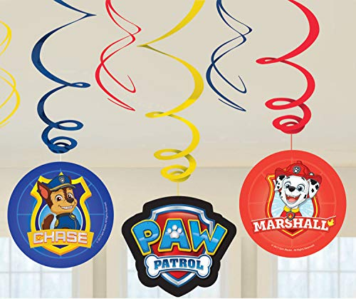 Amscan 9903833 6 Rotorspiralen Paw Patrol, Mehrfarbig (Drei Ist Company-halloween-kostüme)