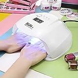 LED UV Lampe für Nägel 54W, PAVLIT SUN LED-Nageltrockner intelligenter Lampenfunktion LED mit 36 Perlen für Shellac und Gelnagellack Lichthärtegerät mit automatische Sensor - Weiß