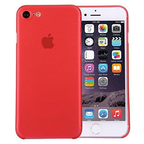 Original TheSmartGuard iPhone 8 & 7 Hülle Case Schutzhülle im Carbon Fiber Look / Kohlefaser Optik (4,7 Zoll) - Ultra-Slim / Ultra-dünn - NEU mit integriertem Schutz für die Kamera-Linse - Farbe schwa Rot