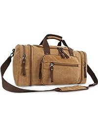 Oflamn Bolsa de Viaje Lona para Mujeres y Hombres - Bolsa Fin de Semana Bolsa Deporte Grande - Large Weekender Overnight Travel Carry On Bag