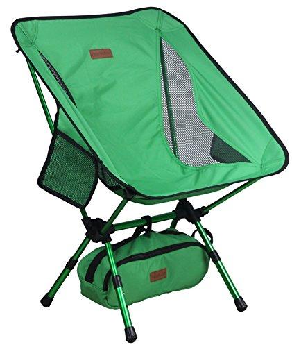 Trekology YIZI GO tragbarer Camping-Stuhl, höhenverstellbar, kompakt, ultraleicht, zusammenklappba