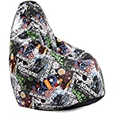 "Orka Disney ""Avengers"" Digital Printed Bean Bag Small Filled With Beans - Multicolor"
